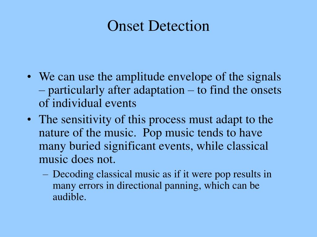 Onset Detection