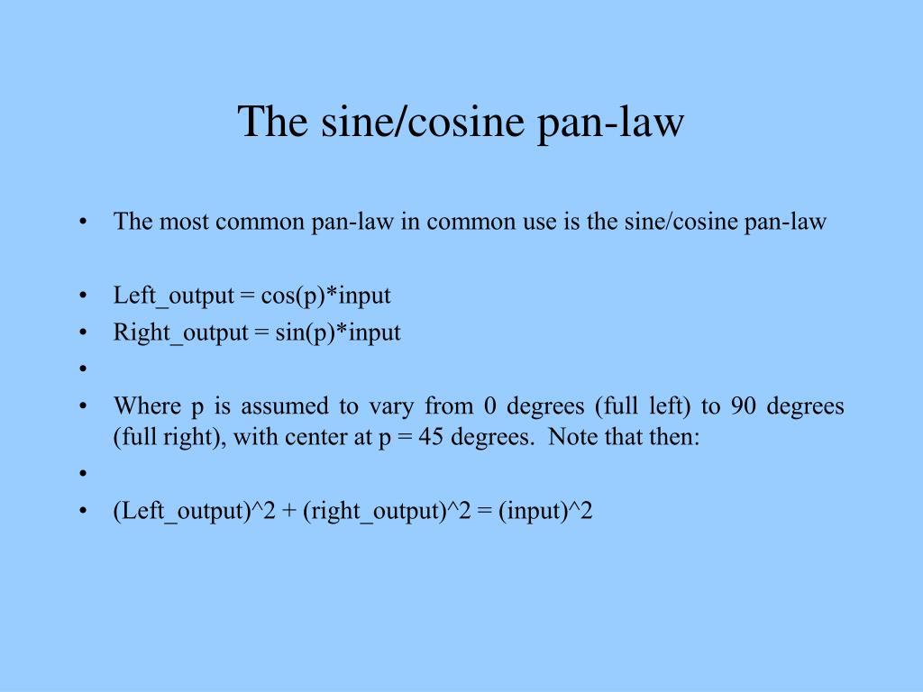 The sine/cosine pan-law