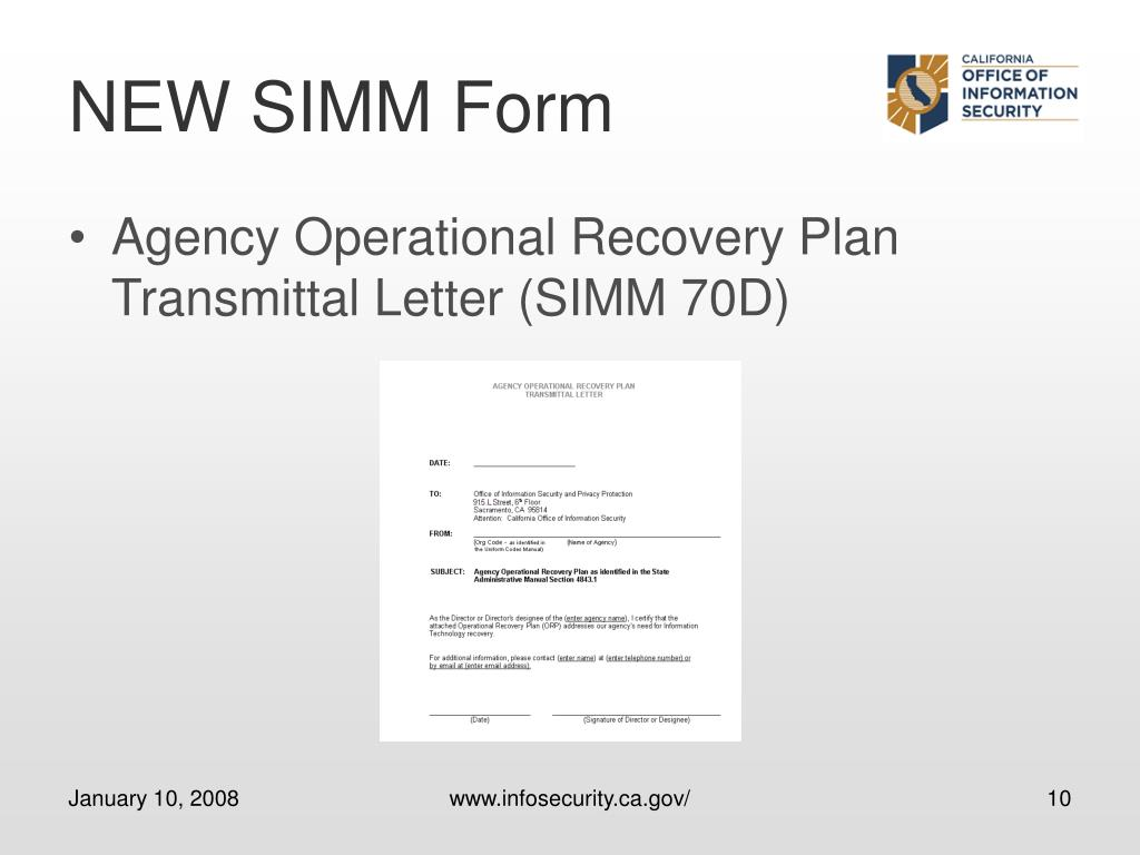 NEW SIMM Form