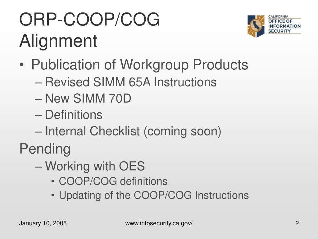 ORP-COOP/COG