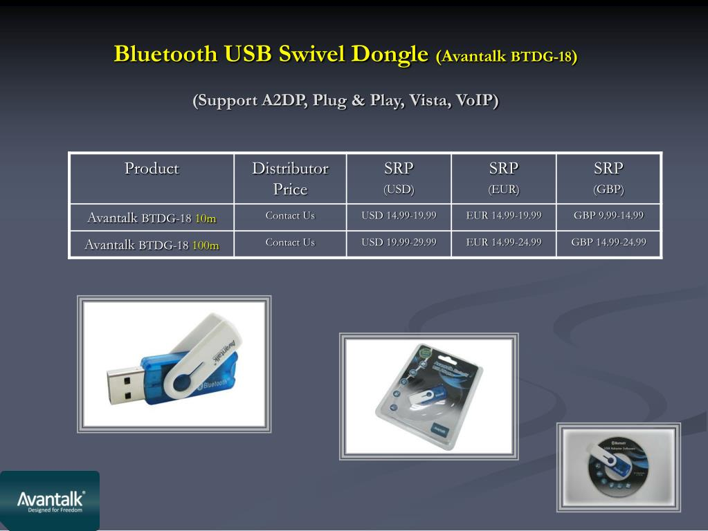 Bluetooth USB Swivel Dongle
