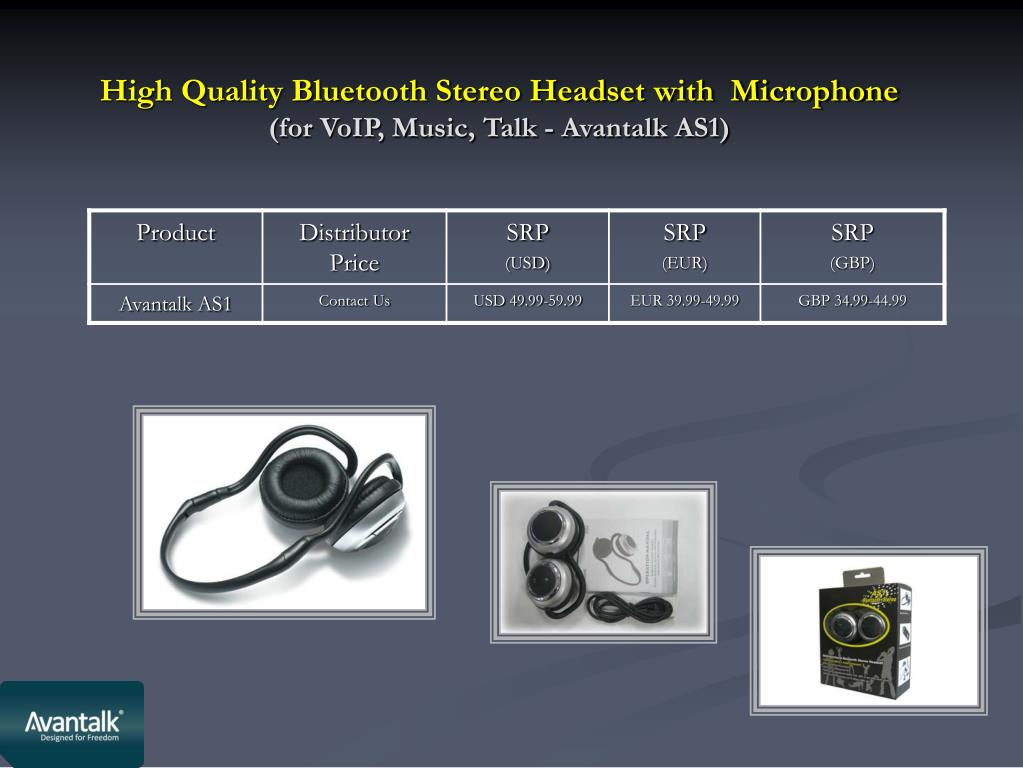 High Quality Bluetooth Stereo Headset with  Microphone