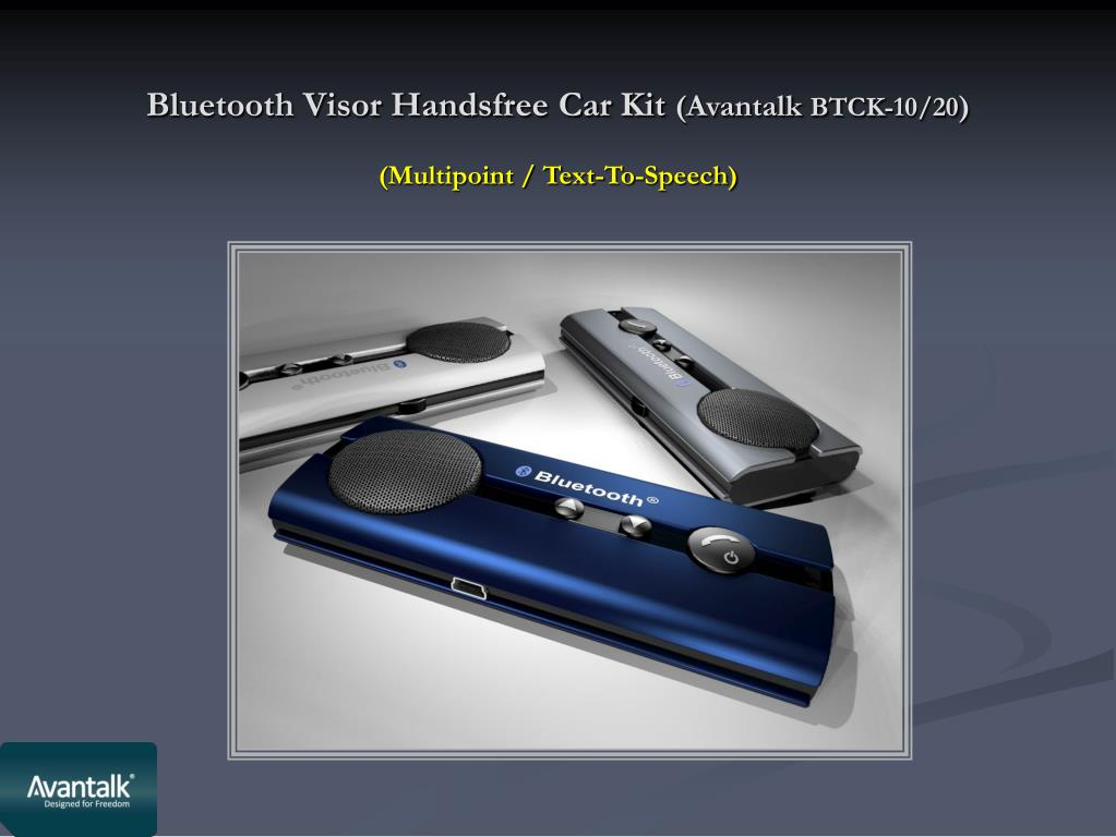Bluetooth Visor Handsfree Car Kit