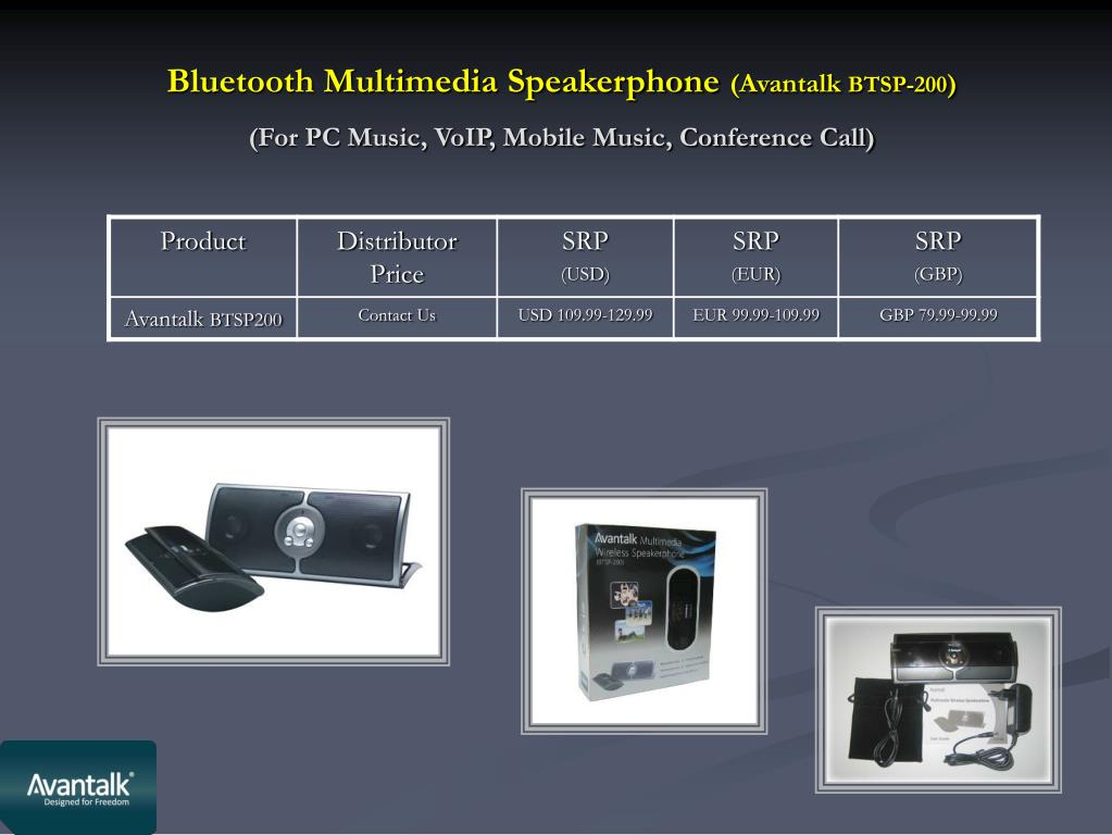 Bluetooth Multimedia Speakerphone