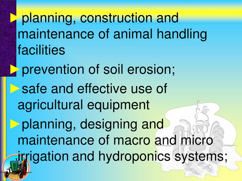 planning, construction and maintenance of animal handling facilities