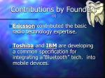 contributions by founders 1