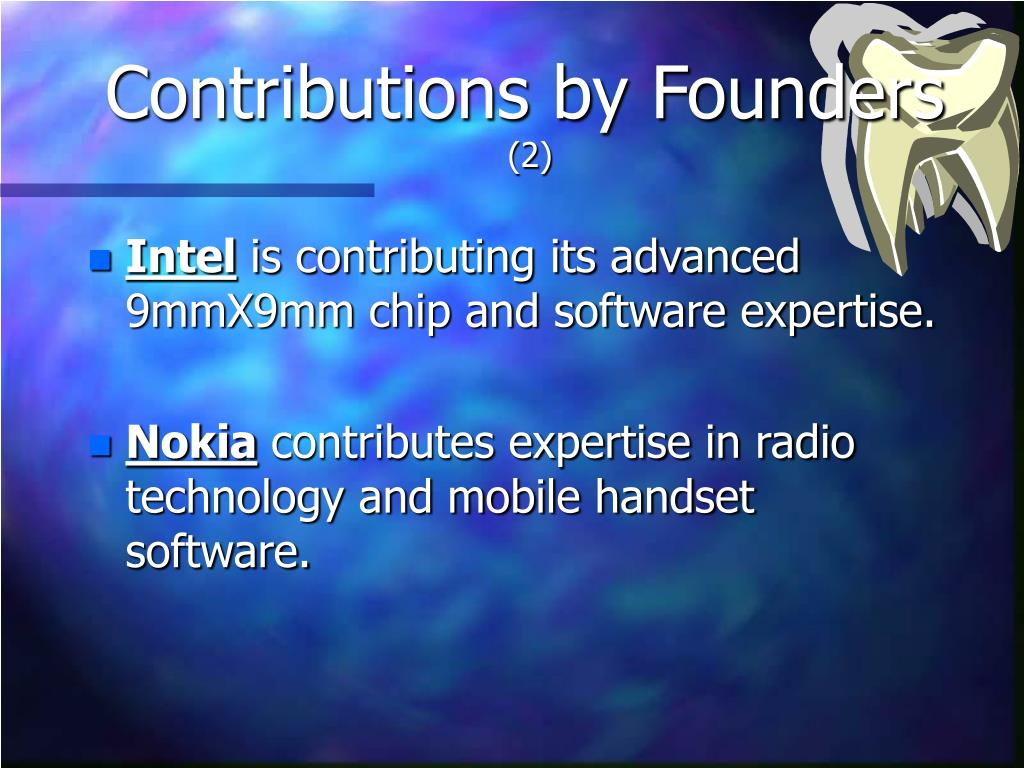 Contributions by Founders