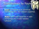 contributions by founders 2