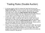 trading rules double auction