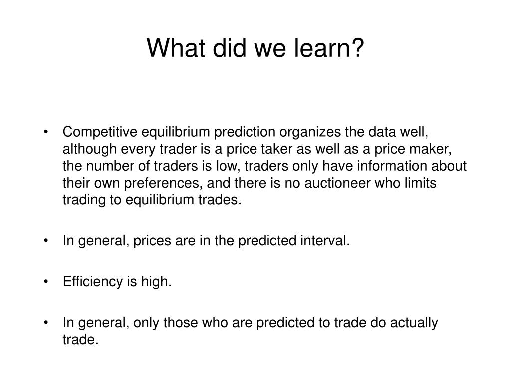 What did we learn?