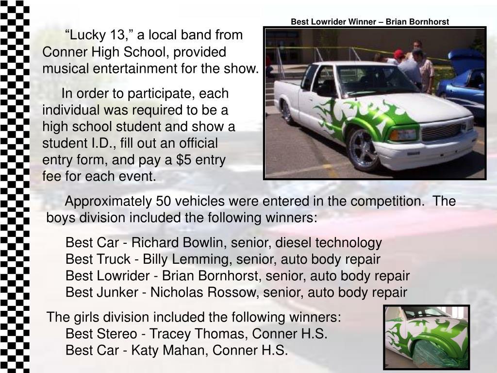 Best Lowrider Winner – Brian Bornhorst