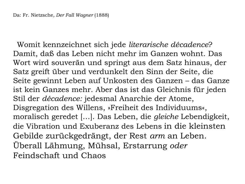 Da: Fr. Nietzsche