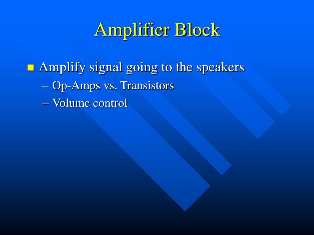 Amplifier Block