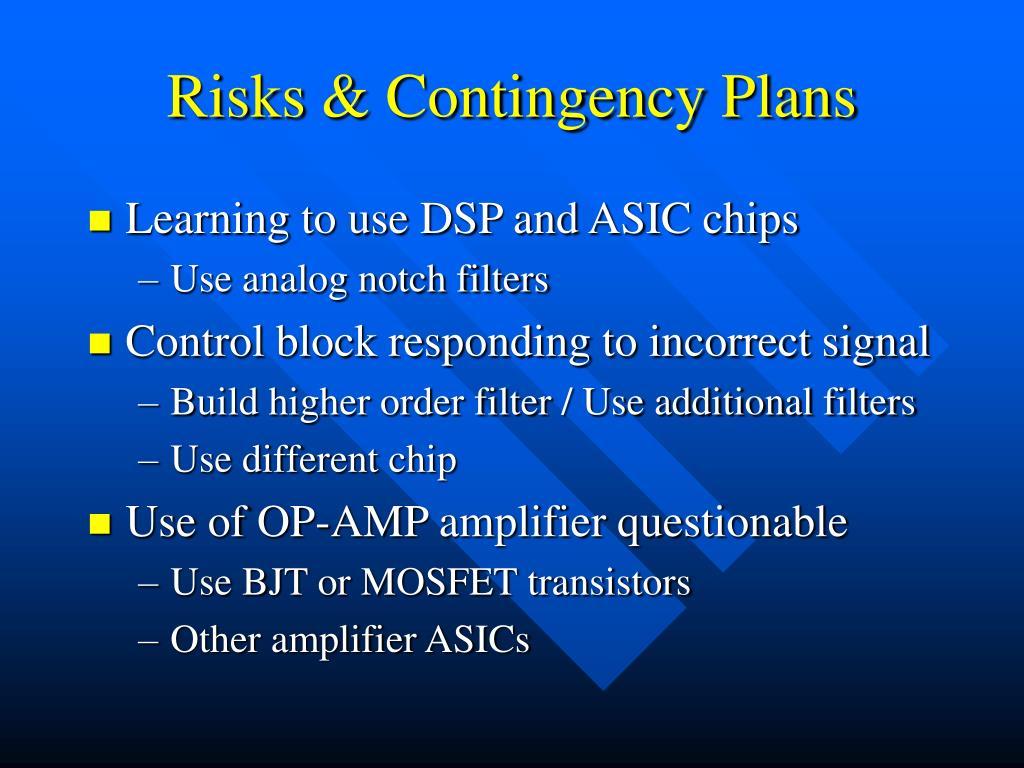 Risks & Contingency Plans