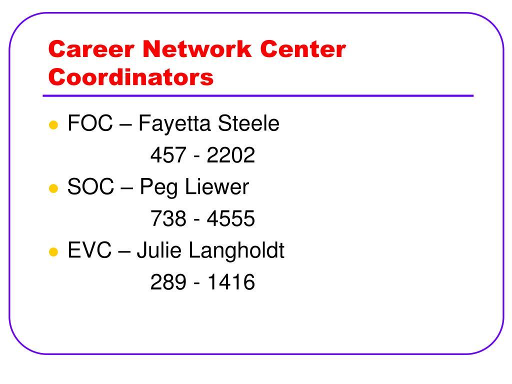 Career Network Center Coordinators