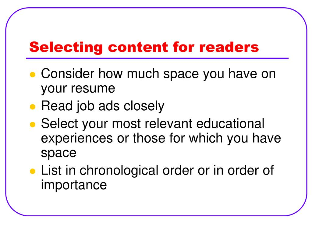 Selecting content for readers