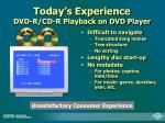 today s experience dvd r cd r playback on dvd player