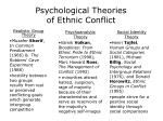 psychological theories of ethnic conflict