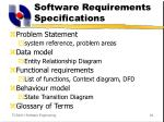 software requirements specifications