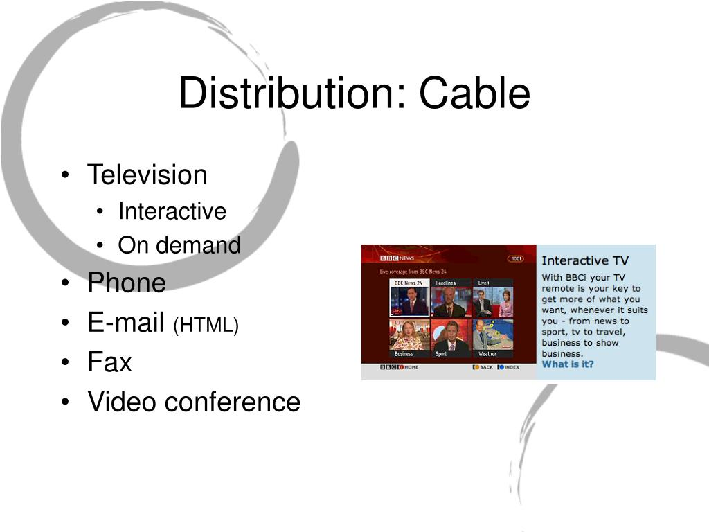 Distribution: Cable