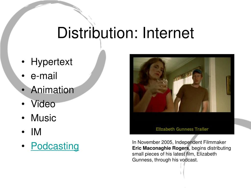 Distribution: Internet