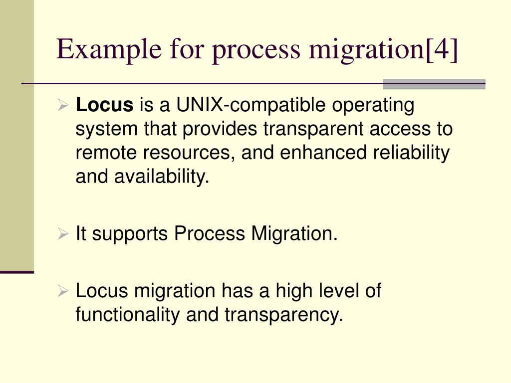 Example for process migration[4]