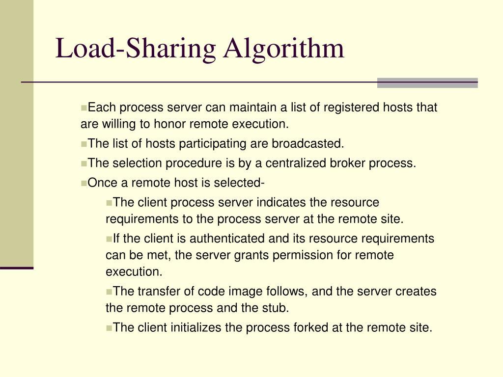 Load-Sharing Algorithm