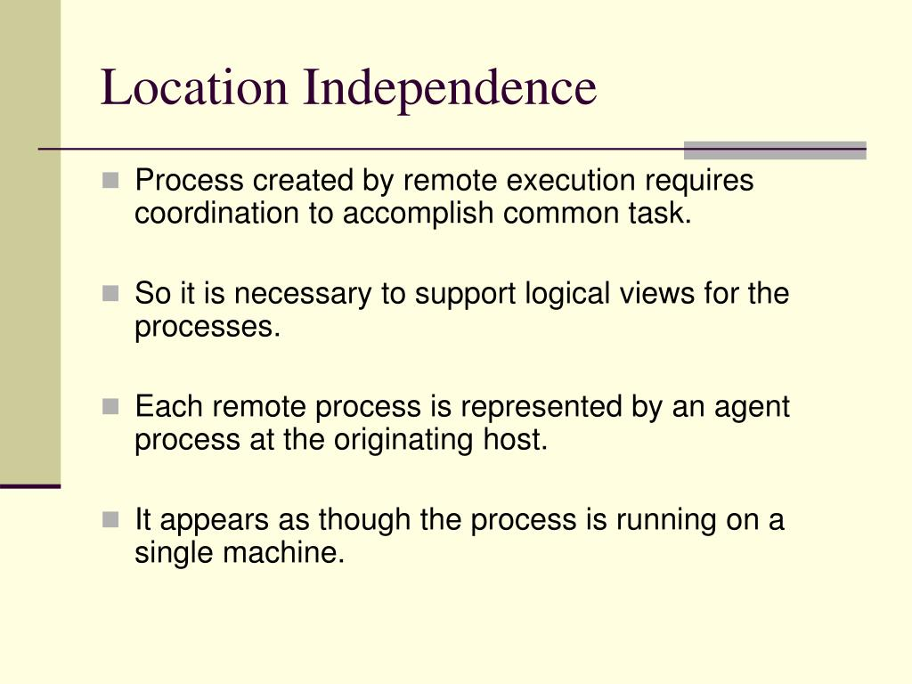 Location Independence