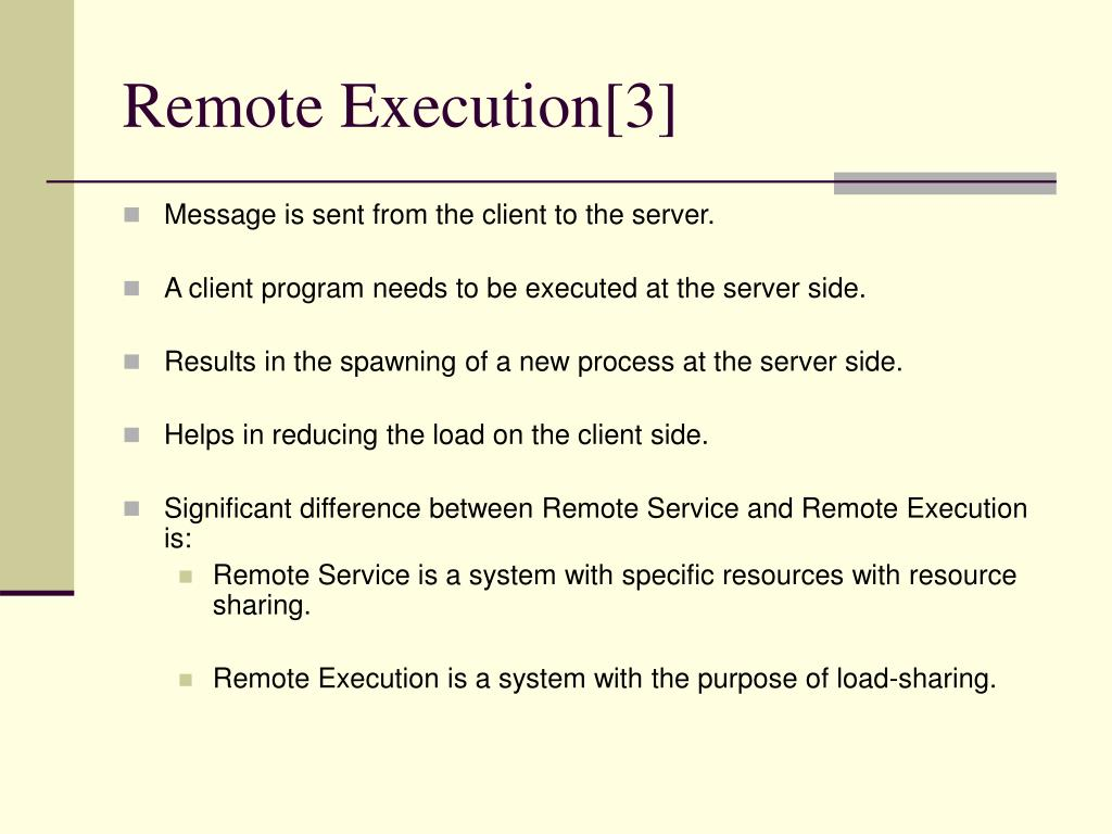 Remote Execution[3]