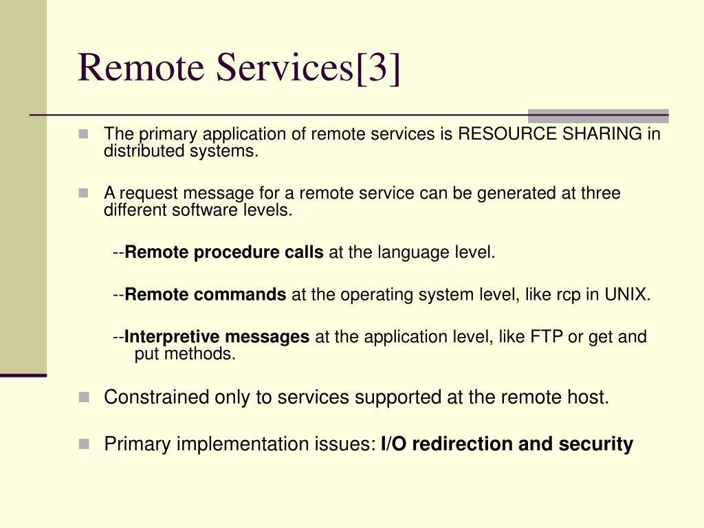 Remote Services[3]