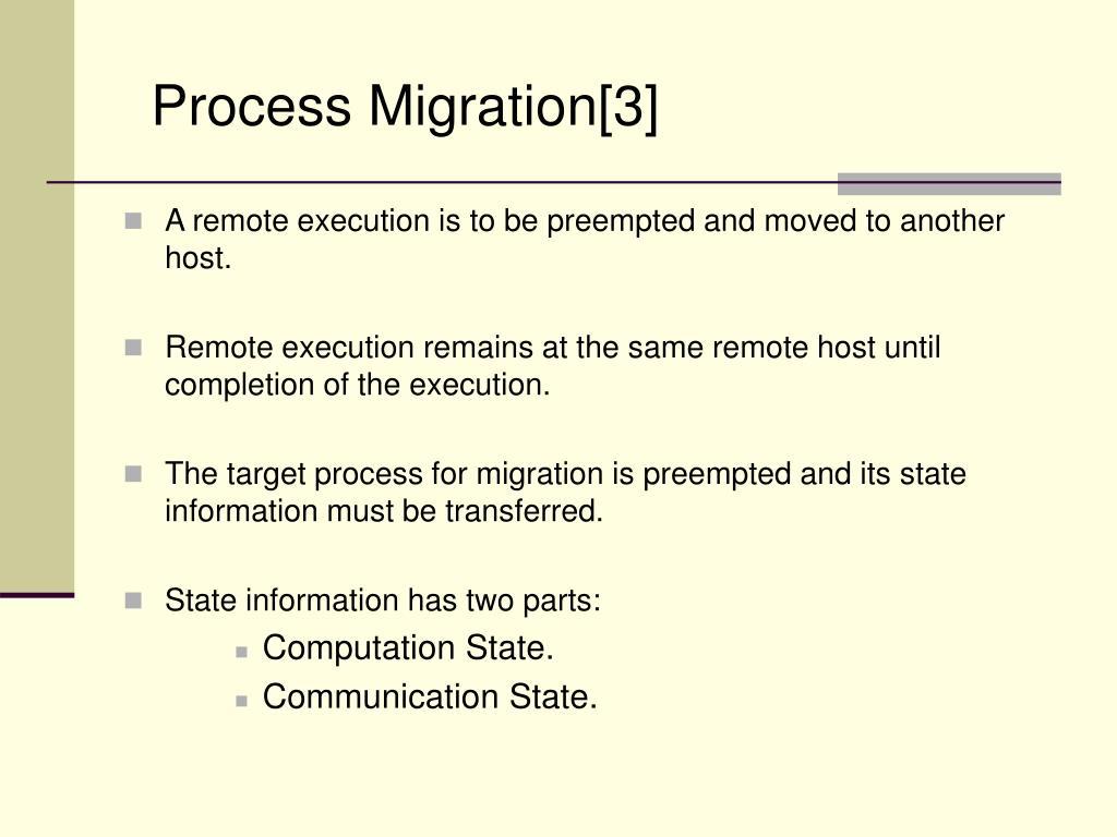 Process Migration[3]