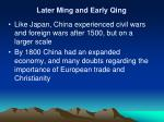 later ming and early qing