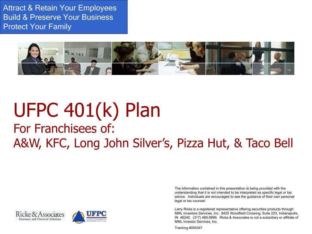 UFPC 401(k) Plan