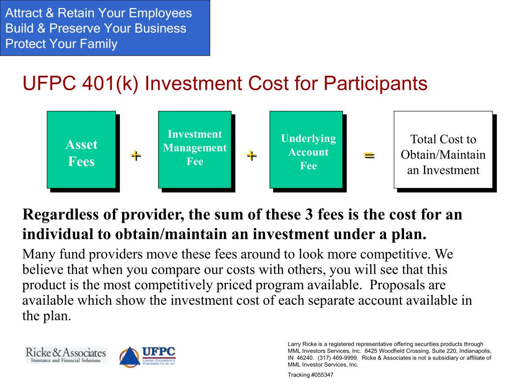 UFPC 401(k) Investment Cost for Participants