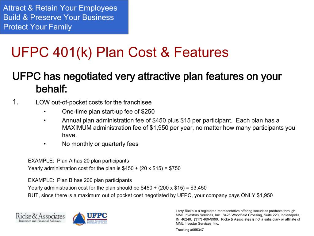 UFPC 401(k) Plan Cost & Features