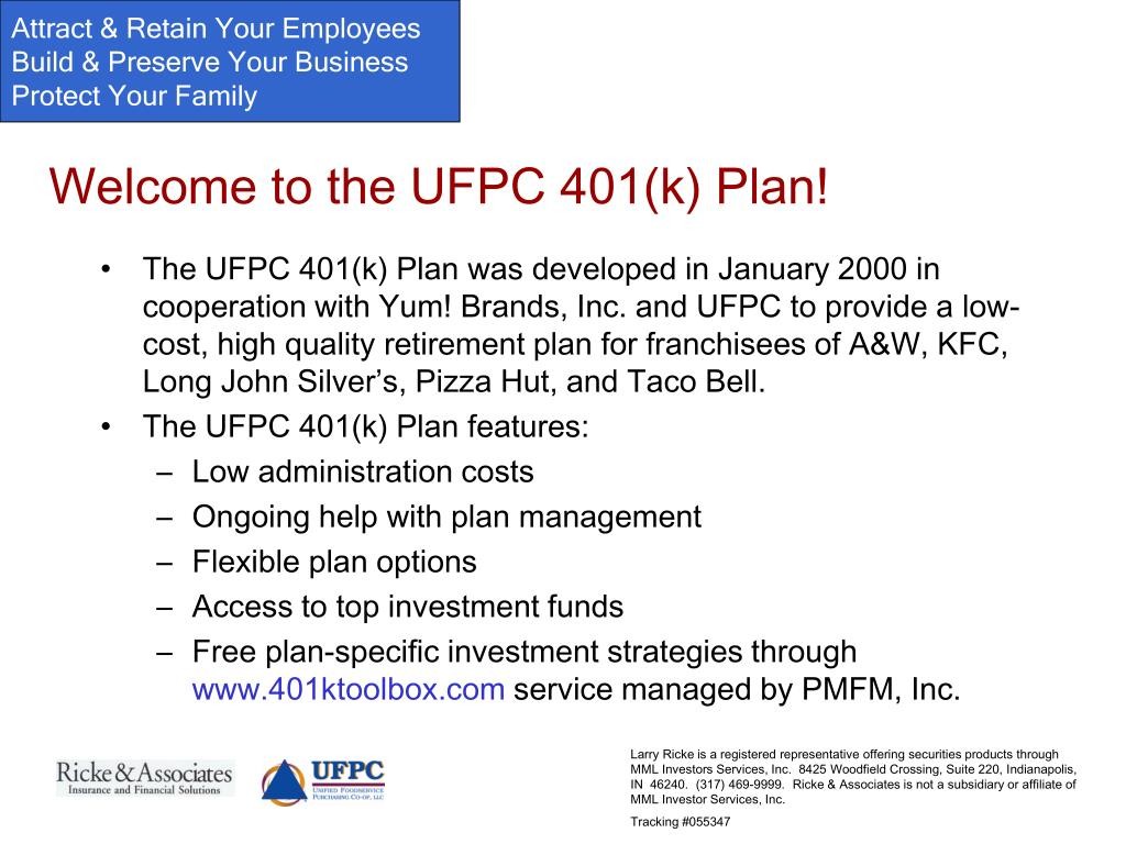 Welcome to the UFPC 401(k) Plan!