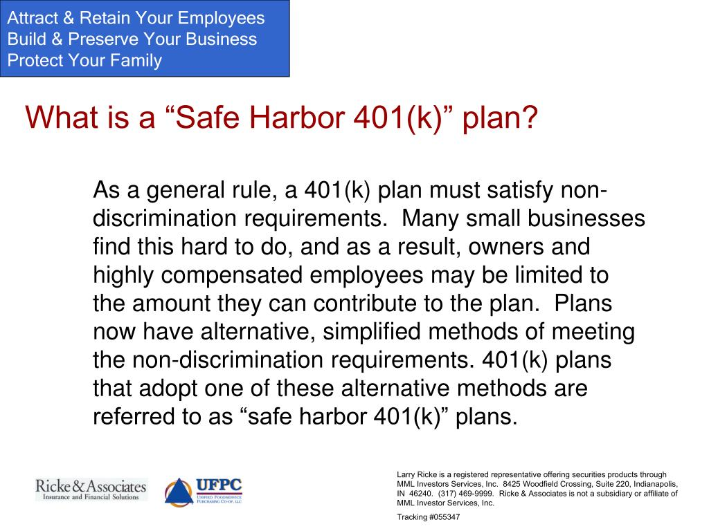 """What is a """"Safe Harbor 401(k)"""" plan?"""