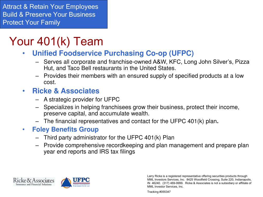 Your 401(k) Team