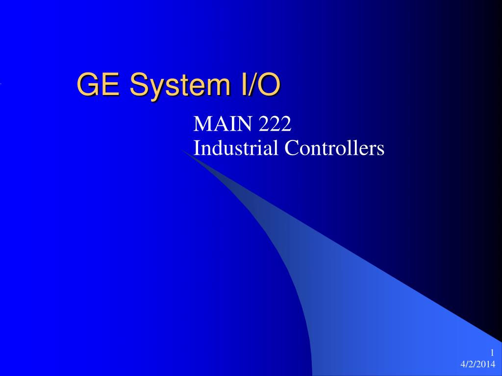 GE System I/O