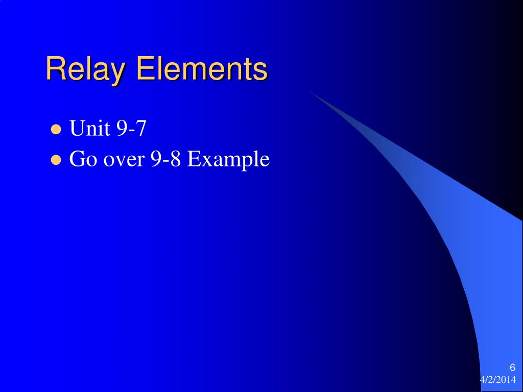 Relay Elements