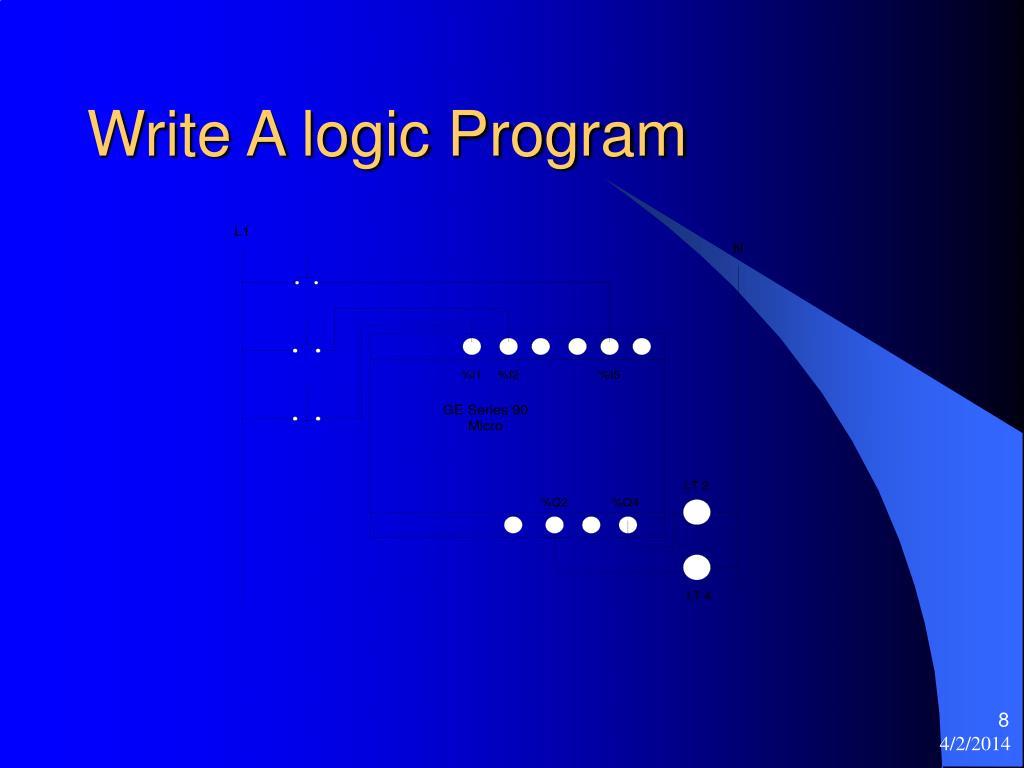 Write A logic Program
