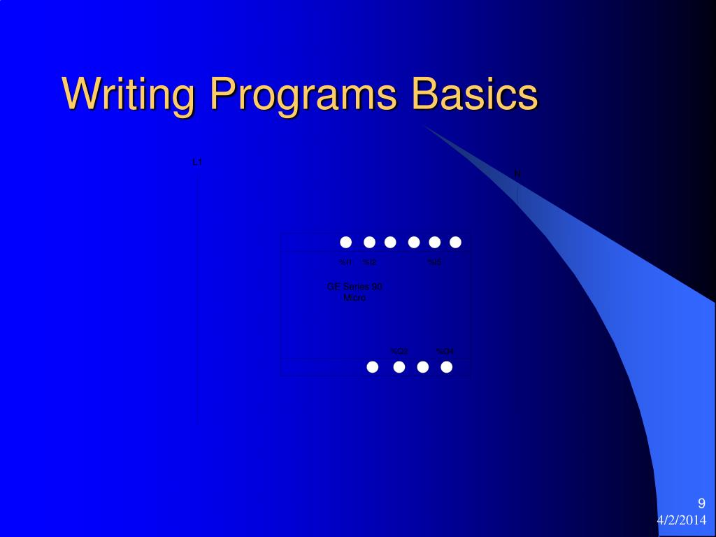 Writing Programs Basics