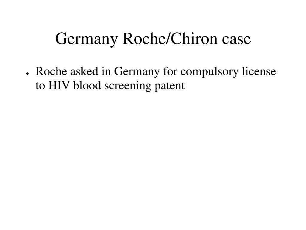 Germany Roche/Chiron case