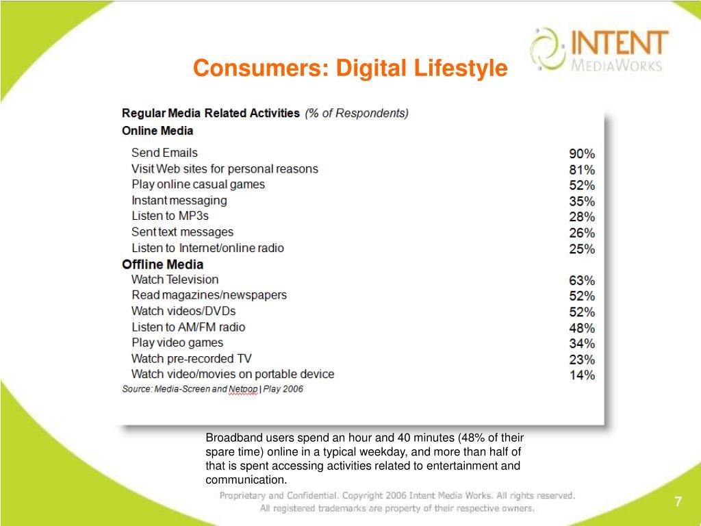 Consumers: Digital Lifestyle