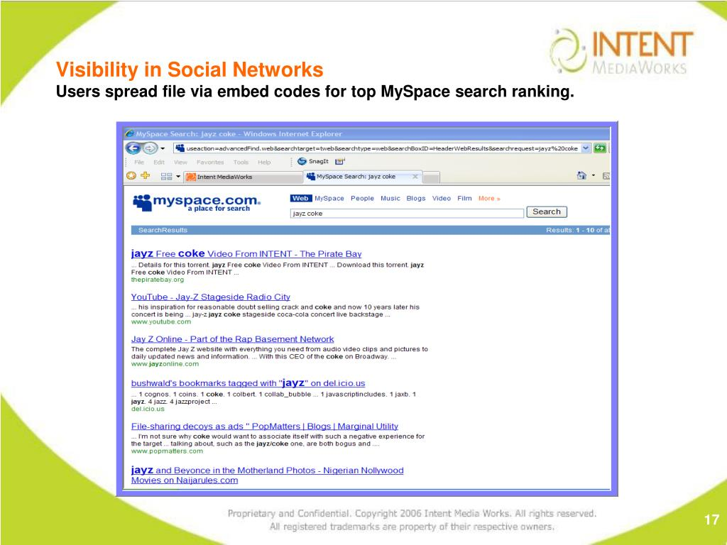 Visibility in Social Networks