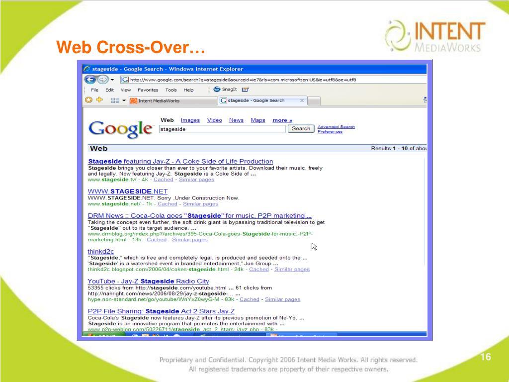 Web Cross-Over…