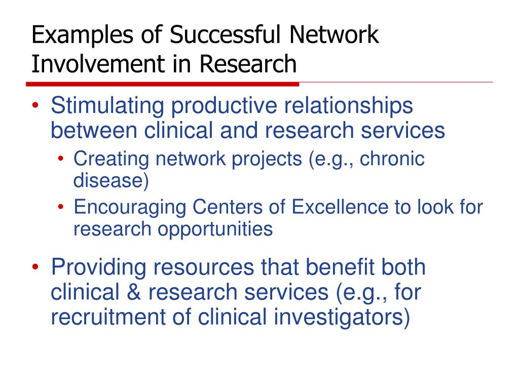 Examples of Successful Network