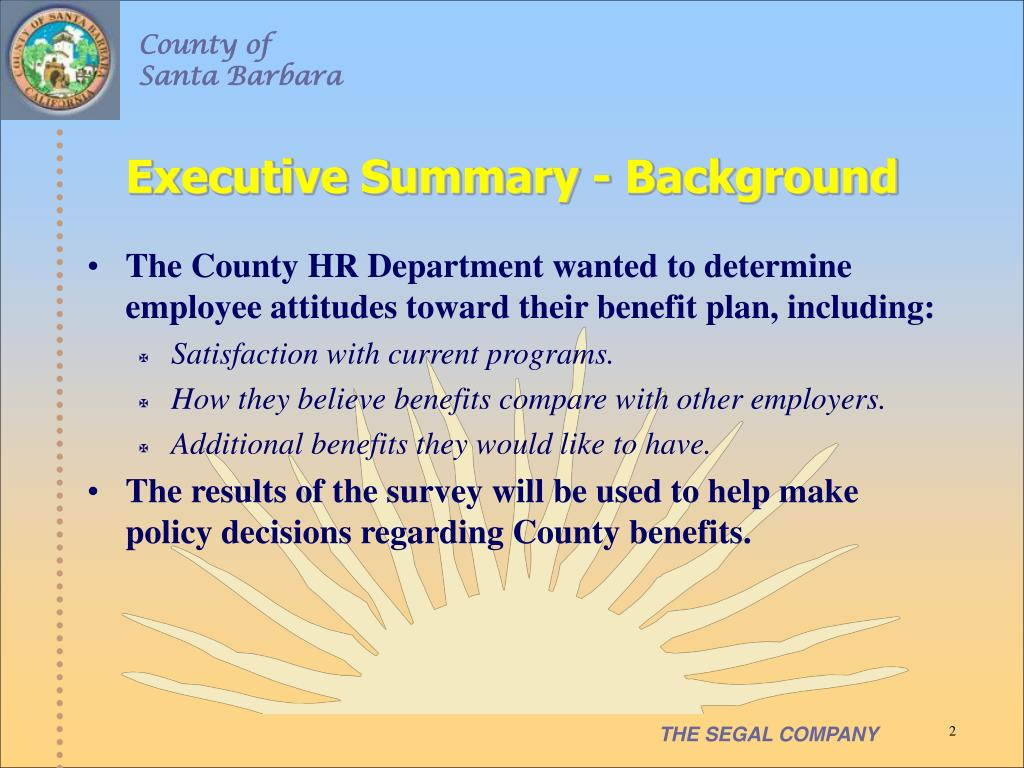 Executive Summary - Background