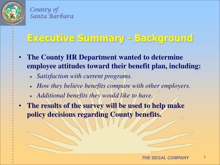 Executive summary background