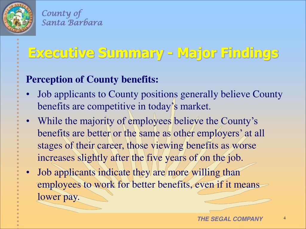 Executive Summary - Major Findings